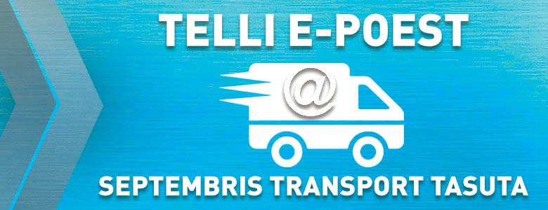 Telli e-poest, septembris transport tasuta