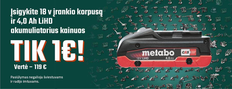 Nemokamas akumuliatorius METABO 2020 01