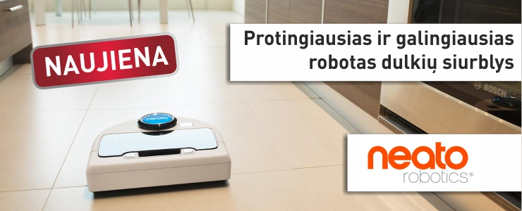 NEATO - protingiausias robotas siurblys
