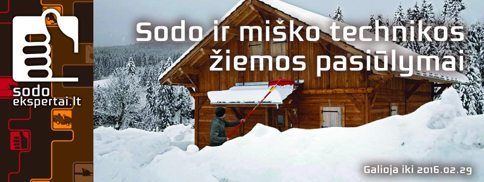 Sodo ekspertai - žiemos pasiūlymai