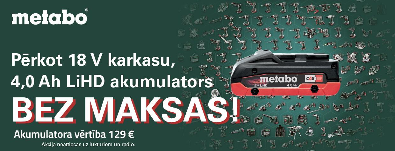 Metabo akumulators bez maksas