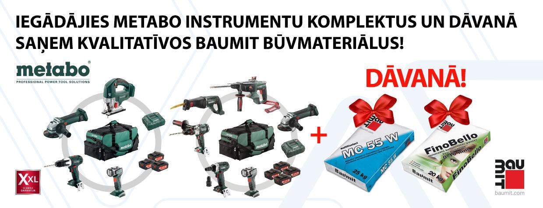 Metabo instrumentiem Baumit dāvanā