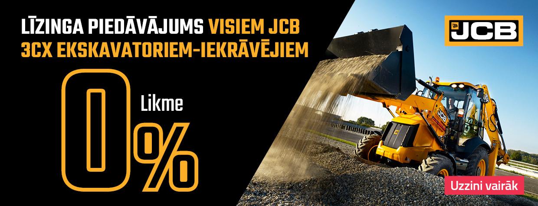 Līzinga piedāvājums visiem JCB 3CX ekskavatoriem-iekrāvējiem