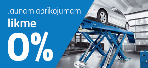 0% nomaksa garāžas aprīkojums