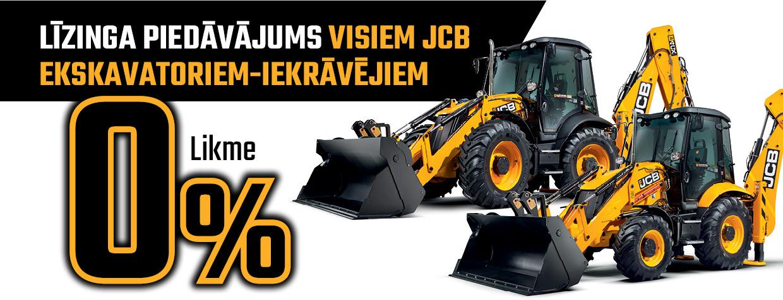 JCB Finance 0% akcija ekskavatoriem-iekrāvējiem