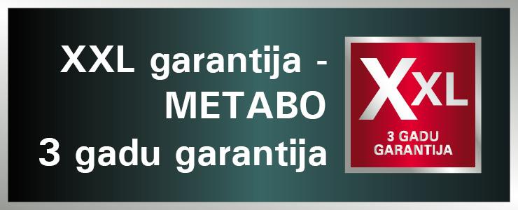 METABO XXL garantija
