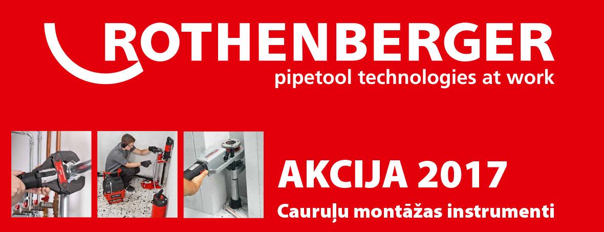Rothenberger 2017 cauruļu montāžas instrumenti