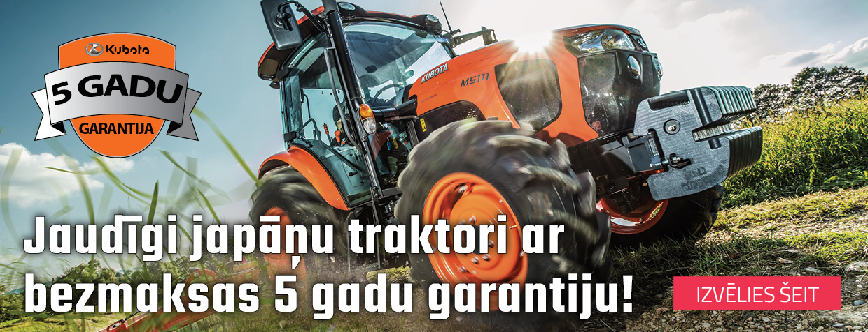 Jaudīgi japāņu traktori ar bezmaksas 5 gadu garantiju!