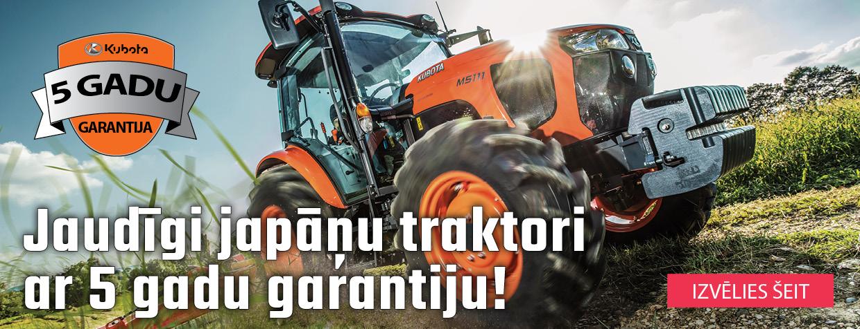 Jaudīgi japāņu traktori ar 5 gadu garantiju!