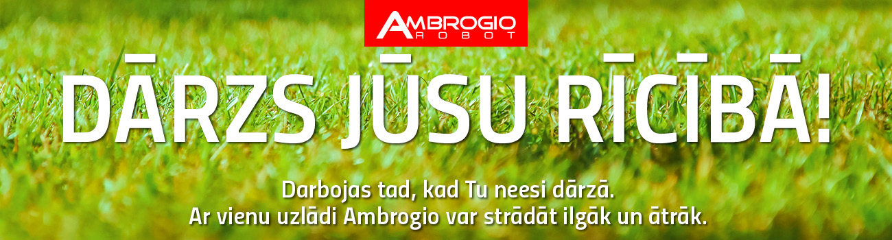 Ambrogio - dārzs jūsu rīcībā