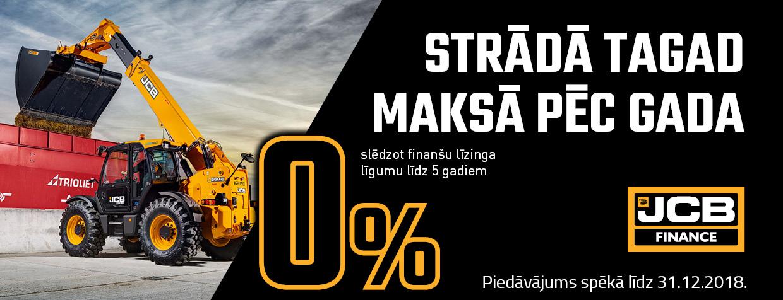 JCB Finance 0% akcija teleskopiskajiem iekrāvējiem