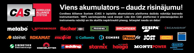 CAS akumulatoru platforma