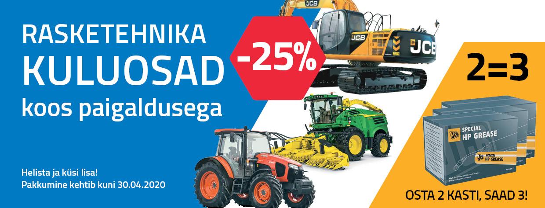 Rasketehnika kuluosad -25%