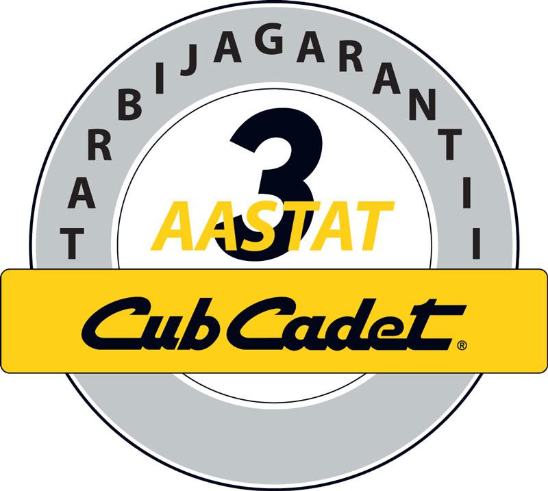 Cub Cadett 3 aastat garantii