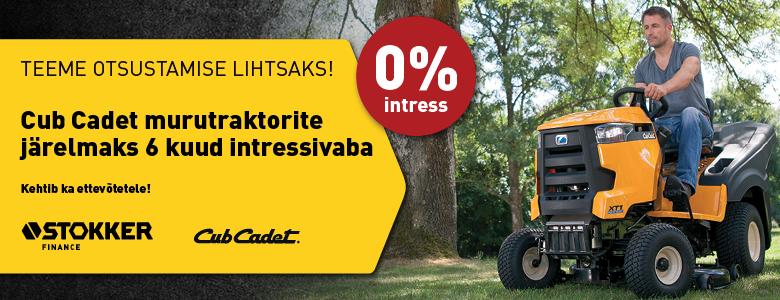 Cub Cadet 0% intress