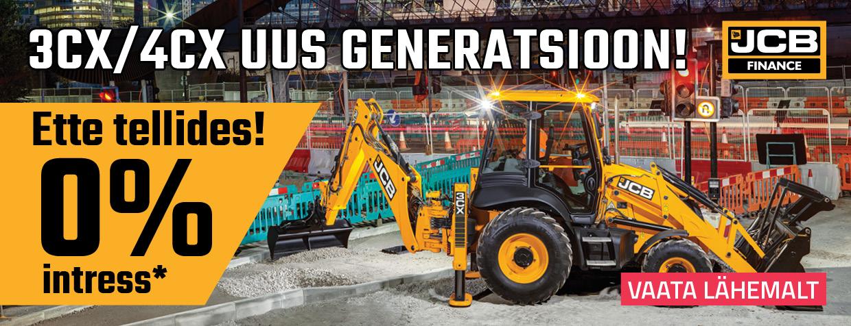 JCB uue generatsiooni ettetellimine 0%