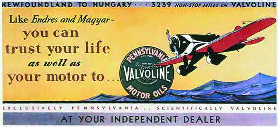 1910. Valvoline töötas välja esimesed lennukimootoriõlid.