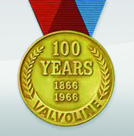 1966. Valvoline tähistab 100 aasta juubelit.