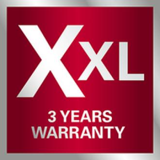 XXL garantija: Metabo 3 metų garantija