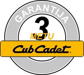 Cub Cadet 3 metų garantija