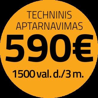 JCB aptarnavimas 590 EUR/3 m