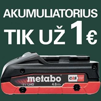 Akumuliatorius už 1 EUR