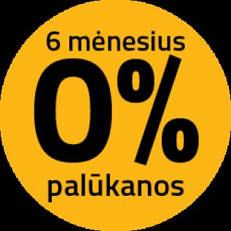 0% palūkanų net 6 mėn.