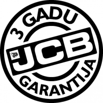 JCB mini ekskavatoriem 3 gadu garantija