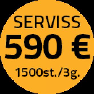 Servisa apkopes 590 Eur