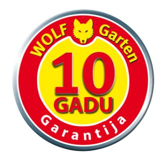 WOLF- GARTEN 10 gadu garantija