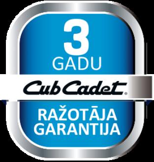 Cub Cadet 3 gadu garantija
