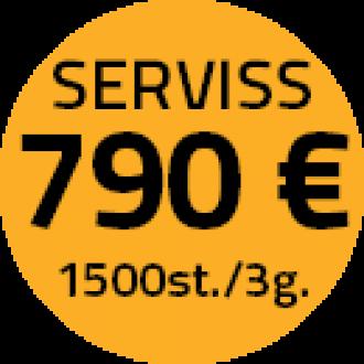 Servisa apkopes 790 Eur