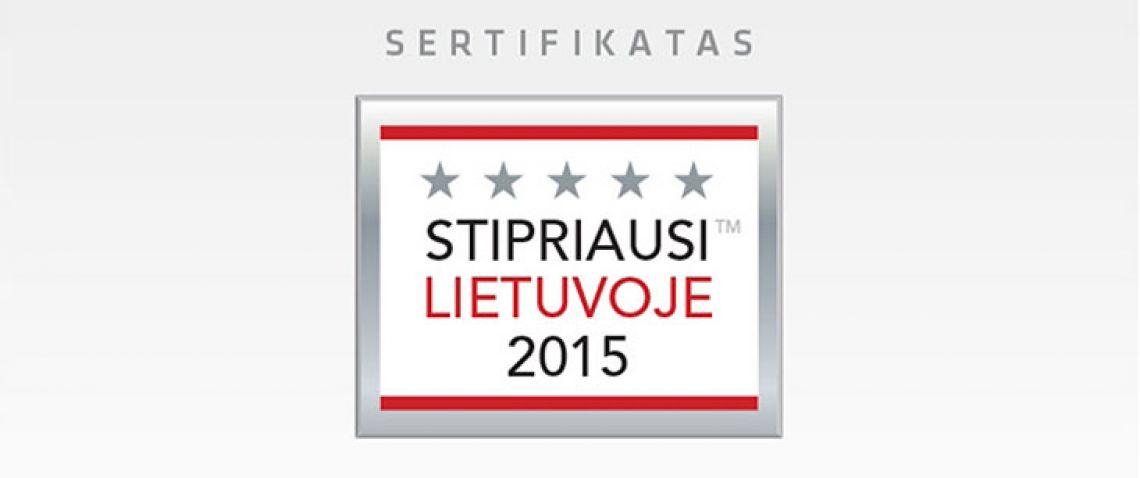 Stipriausi Lietuvoje 2015!