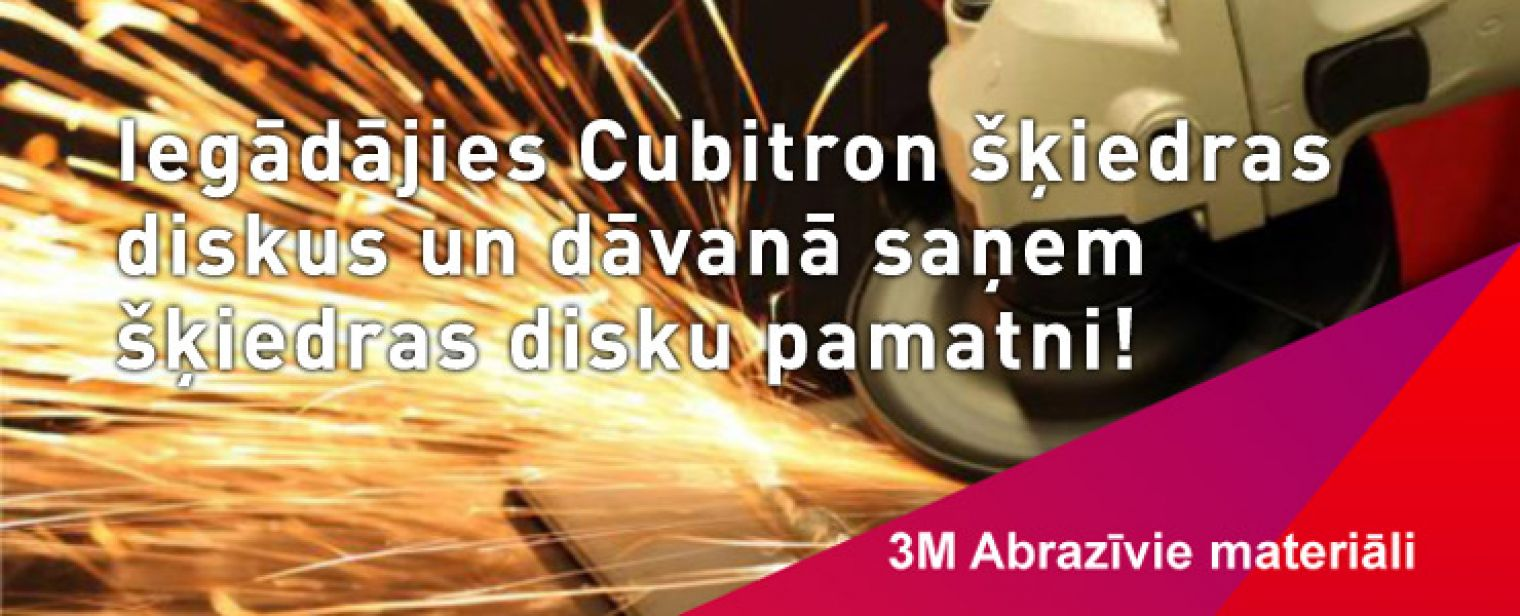 3M Cubitron disku akcija