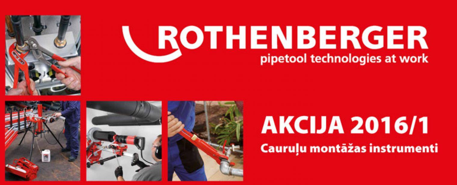 Rothenberger 2016/1 cauruļu montāžas instrumenti