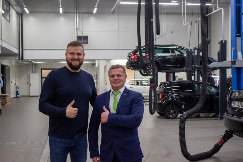 Stokker aprīkojis jaunā Škodas dīlera VERTE AUTO autoservisu