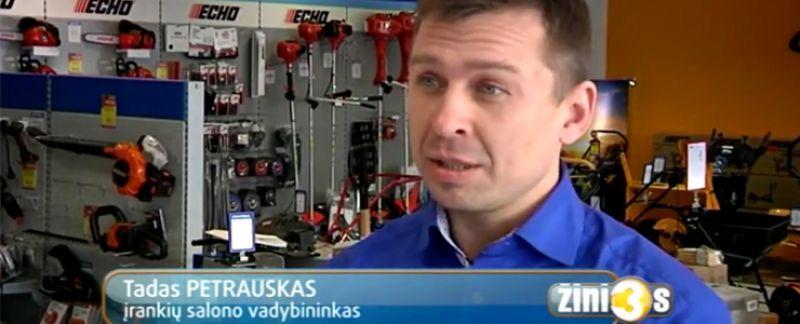Sniego valymo tendencijos TV3 žinių reportaže