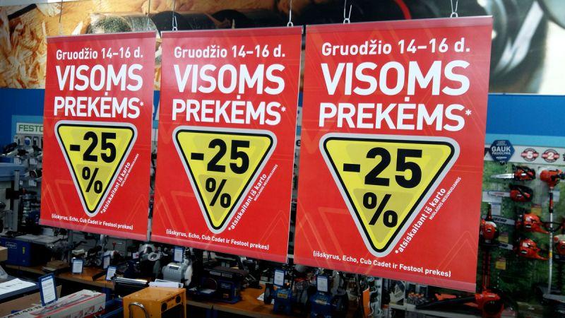 Stokker įrankių centruose visoms prekėms -25% nuolaidos!