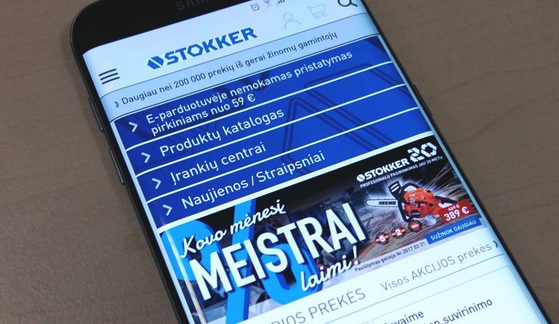 STOKKER svetainės pasikeitimai pritaikyti mobiliesiems įrenginiams