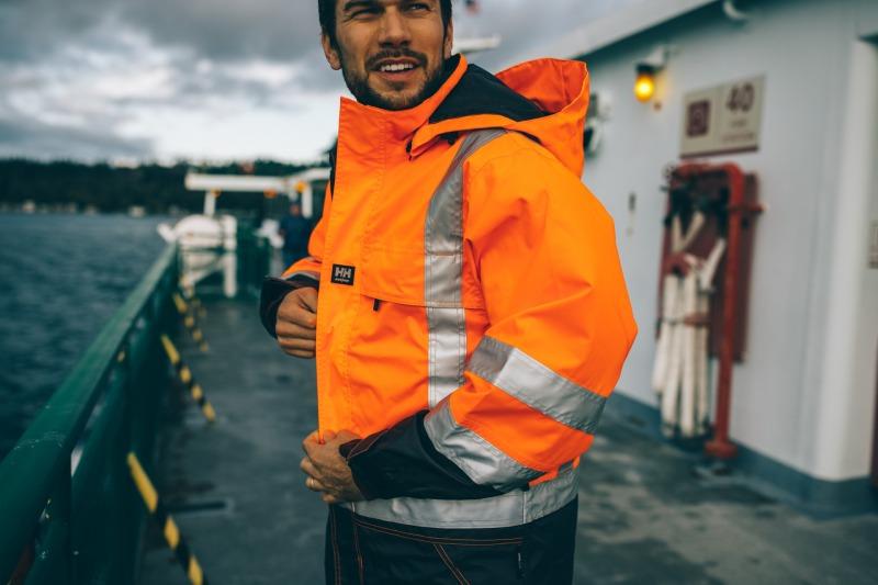Neoninė geltona arba oranžinė darbo apranga