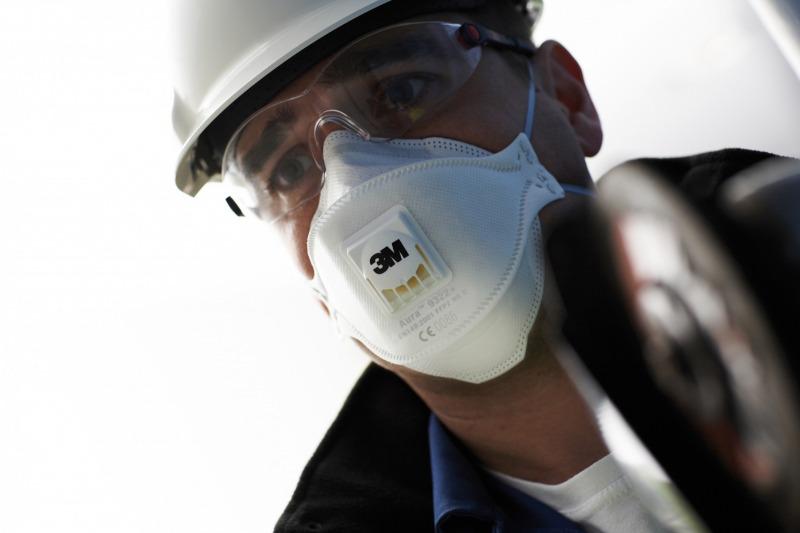 3M™ Aura respiratori efektīvi aizsargās Jūsu veselību