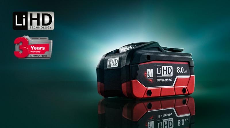 Metabo LiHD akumulatoru tehnoloģija