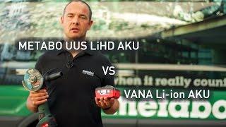 Metabo LiHD aku VS Li-ion aku