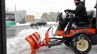 Kubota F3090 traktors tiks galā arī ar dziļu sniegu!