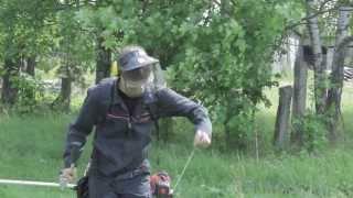 Unikālais ECHO SRM 300TES krūmgriezis lielas noslodzes darbam