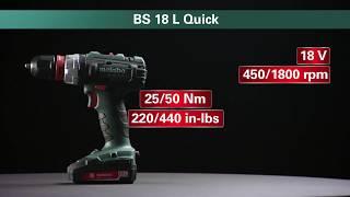 Metabo akumuliatorinis suktuvas gręžtuvas BS 18 L Quick