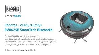 Black&Decker robotas dulkių siurblys RVA425B SmartTech Bluetooth