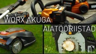 Worx akuga aiatööriistad