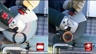 Pirmasis Metabo akumuliatorinis kampinis šlifuoklis su 230 mm šlifavimo disku
