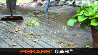Fiskars QuikFit Patio Broom 13